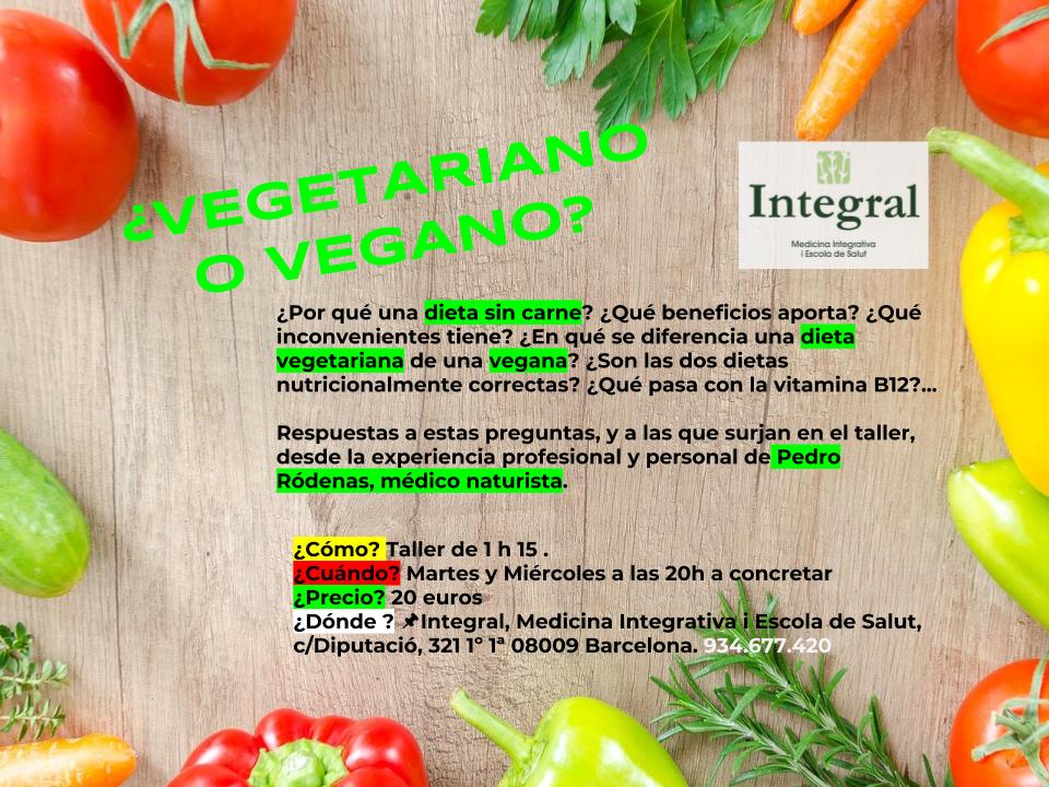 vegetariano o vegano curso barcelona