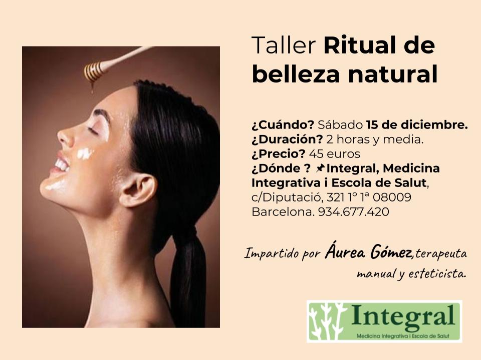 Taller Ritual de belleza natural